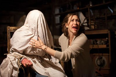 Vera Farmiga stars in <i>The Conjuring</i> as a paranormal investigator working to help a family terrorised by a dark presence in their farmhouse.  Don't watch this one home alone!<br/><br/>(Image: Warner Bros)