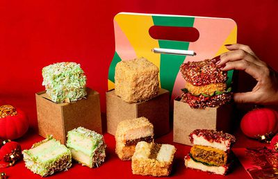 The beef curry lamington has landed for Lunar New Year