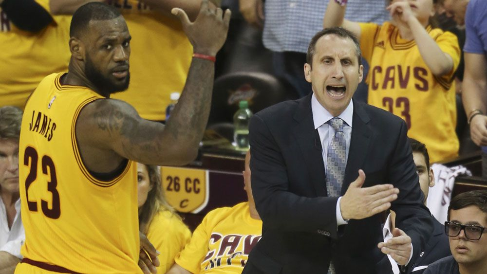 Former Cavs coach David Blatt will accept an NBA Championship ring. (AAP)