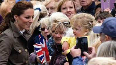 Kate met with royal fans in Cumbria in the English countryside.