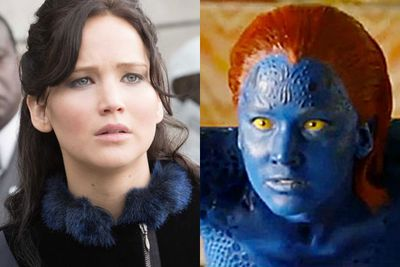 <b>US$34 million</b><br/><br/>It's no surprise that Jennifer Lawrence has landed second place on this year's list, with a little help from <i>The Hunger Games</i> franchise.  But kicking butt in <i>X-Men: Days of Future Past</i> surely would have helped too!<br/><br/>Left: <i>The Hunger Games: Catching Fire</i> / Warner Bros. Right: <i>X-Men: Days of Future Past / 20th Century Fox.
