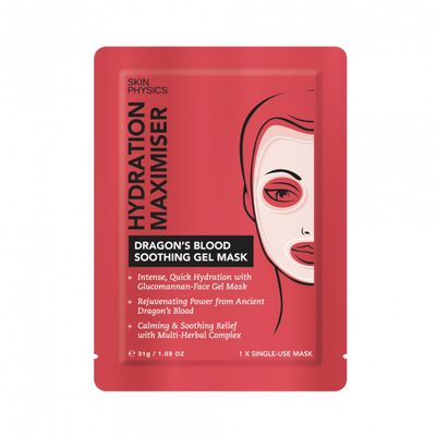 "<p><a href=""https://www.priceline.com.au/skin-physics-hydration-maximiser-dragon-s-blood-soothing-gel-mask-31-g"" target=""_blank"" draggable=""false"">Skin Physics Hydration Maximiser Dragon's Blood Soothing Gel Mask 31g, $12.99</a></p> <p>Don't let the name throw you off. </p> <p>Made with an extract of Ancient Dragon's Blood Extract (from Amazon) that has multiple benefits - anti-wrinkle, anti-oxidant, anti-pollution, nourishing moisturiser and soothing barrier protection, your skin will be left smooth, fresh and replenished.</p> <p>&nbsp;</p>"