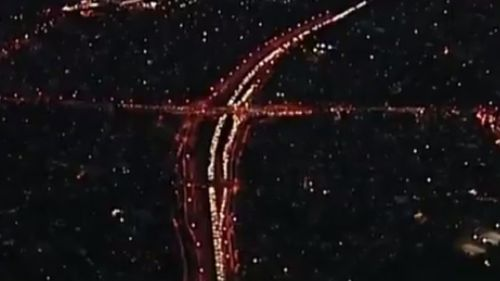 The M5 tunnel has been closed westbound since 4.30pm. (9NEWS)