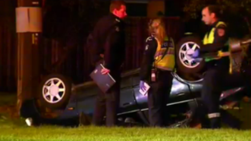 The collision occurred just after midnight in Ferntree Gully, Dandenong. (9NEWS)