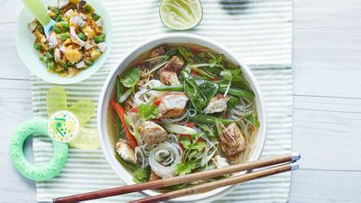 "Recipe: <a href=""http://kitchen.nine.com.au/2017/08/29/11/16/chicken-laksa-with-a-side-of-chinese-chicken-for-baby"" target=""_top"">Chicken laksa with a side of Chinese chicken for baby</a>"
