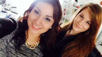 Cheyenne Rose Antoine and best friend Brittany Gargol