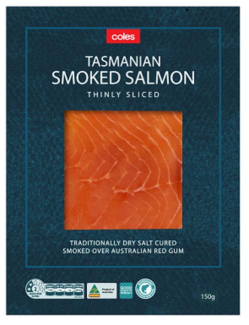 Coles Smoked Tasmanian Salmon 150g pack recall