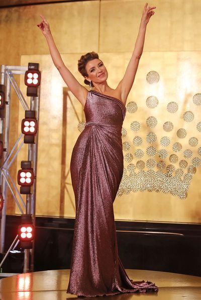 <p>Dannii Minogue in Christah Lea</p>