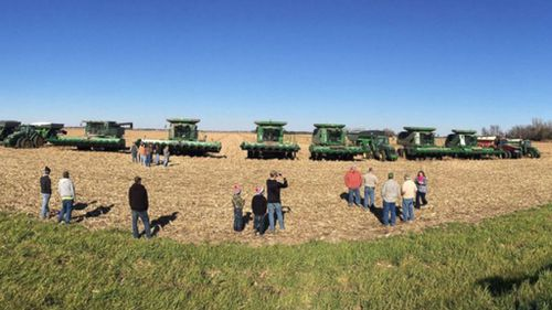Heartbreaking moment US community unites to help farmer's family