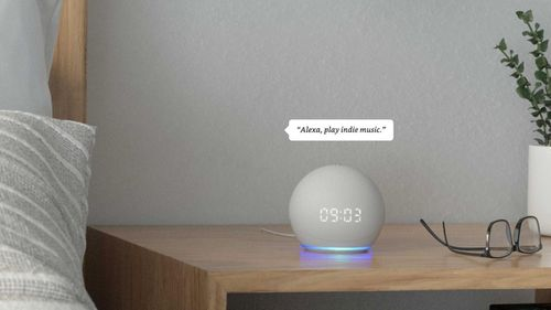 The Echo Dot with clock.