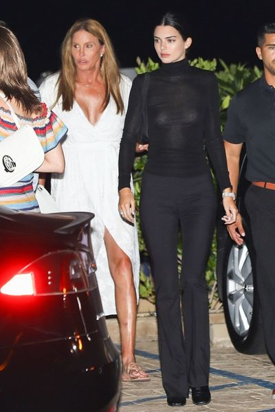 Kendall Jenner with dad Caitlyn Jenner, in Malibu, August, 2018