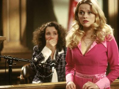 Reese Witherspoon in a scene from the 2001 film Legally Blonde.