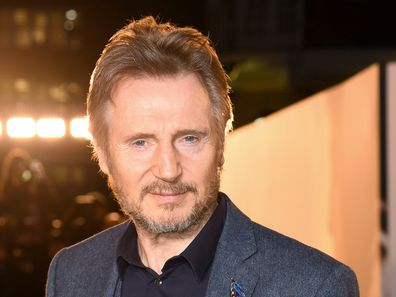 """Liam Neeson attends """"The White Crow"""" UK Premiere held at The Curzon Mayfair on March 12, 2019 in London, England."""