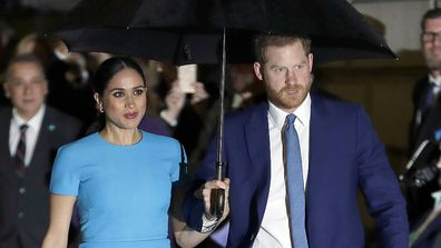 Harry and Meghan arrive at the annual Endeavour Fund Awards in London.