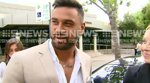 Kenny Edwards is now based in France but appeared in court in Sydney today over driving offences.