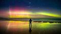 Enchanting aurora australis illuminates southern skies