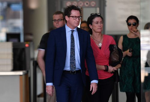 Michael Miller, uncle of one-punch victim Cole Miller, leaves the Supreme Court in Brisbane today. (AAP)