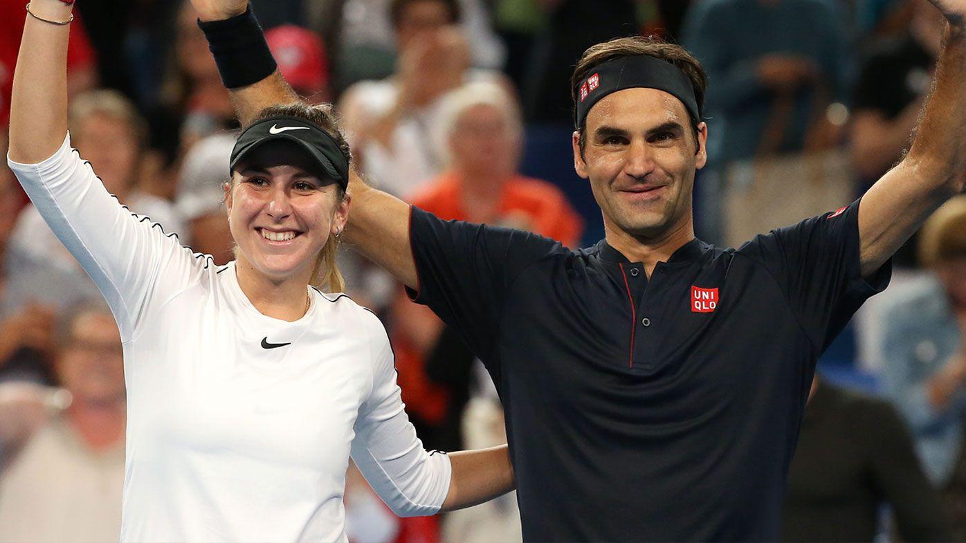 Bencic and Federer claim Hopman Cup