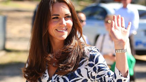 The Duchess of Cambridge in the Blue Mountains. (AAP)
