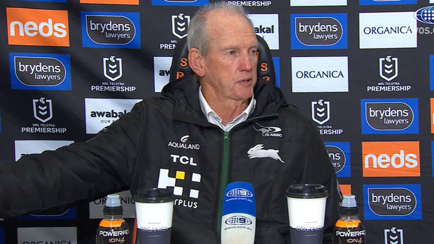 Wayne Bennett during press conference