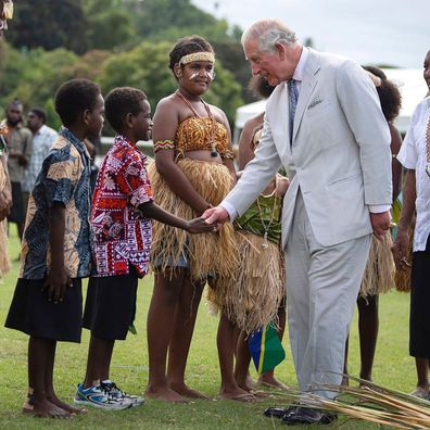 Prince Charles speaks pidgin English in the Solomon Islands