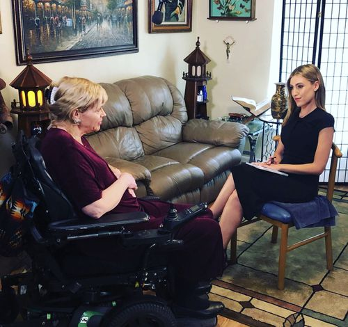 Samantha Markle has been wheelchair-bound for 10 years. (A Current Affair)