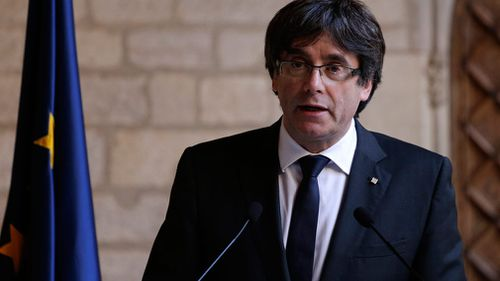 Spain's state prosecutor has called for charges to be laid against the sacked Catalonia president Carles Puigdemont. (AAP)