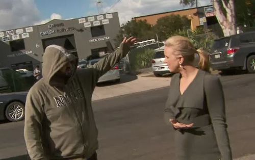 Daish was standing across the road from the business and was on public property when she was confronted.