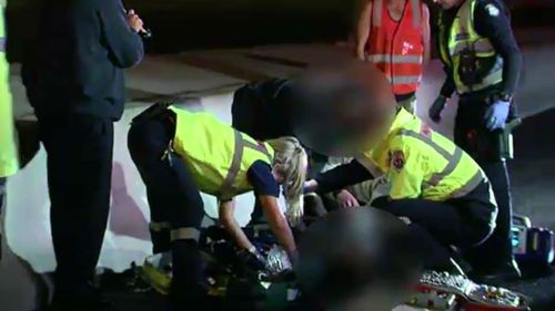 Six teenagers were arrested at the scene. (9NEWS)
