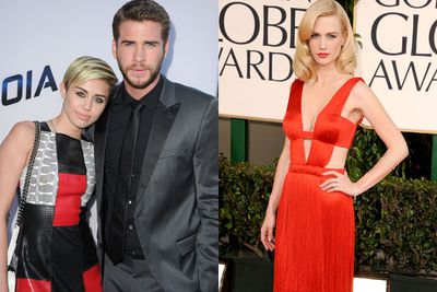 Did they? Didn't they? Sources say that in 2013, Liam Hemsworth was definitely sending graphic texts to <i>Mad Men</i> star January Jones.... the woman who he allegedly cheated on Miley with in the same year. <br/><br/>But don't think the dirty SMS' were a one off thing! According to the same source, the <i>Hunger Games</i> star chased January in the final months of his relationship with Cyrus. <br/><br/>Those innocent blue peepers almost fooled us. <br/>