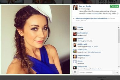 <I>Bachelor</i> 2014 runner-up Lisa Hyde is off to the races with a fishtail braid.<br/><br/>Image: Instagram