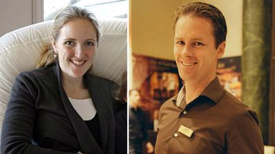 Sydney siege victims Katrina Dawson and Tori Johnson. (Supplied)