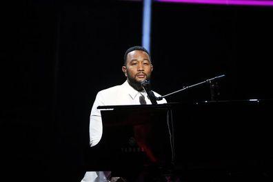 John Legend dedicates Billboard Music Awards performance to Chrissy Teigen.