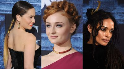 As the <em>Game of Thrones</em> stars hit the red carpet in LA overnight to celebrate the premiere of season six, one could be forgiven for thinking that the actresses walked straight off the set and into the cinema. In fact, their hair and make-up looks would have been right at home in the Seven Kingdoms. <br><br>Emilia Clarke (Daenerys Targaryen) embraced her on-screen alter-ego Khaleesi with a long ponytail coiled in metallic detailing. Sophie Turner (Sansa Stark) opted for intricate braids, while Lisa Bonet, who is married to former <em>Game of Thrones</em> star Jason Momoa, aka Khal Drogo, styled her signature dreads with a moon motif headpiece. (Perhaps a reminder to Khaleesi that she is the true moon of Drogo's life?) <br><br>See which guests took their beauty cues from King's Landing and beyond.