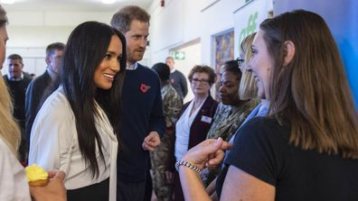 The Duke and Duchess of Sussex surprised their neighbours in Windsor at a coffee morning for military families 8
