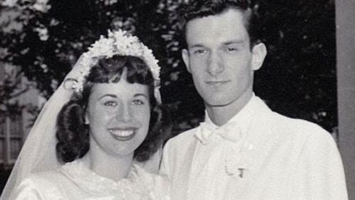 Hef and his first wife Millie Williams. (Twitter)