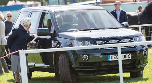Prince Philip was seen in public for the first time since his hip operation. (Getty)