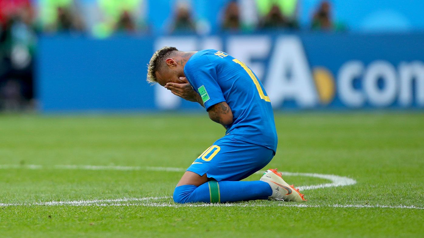 Neymar rejoices after Brazil's victory over Costa Rica at the World Cup. (Getty)
