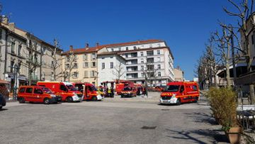 Knifeman kills two people in random attack which took place in a commercial street in Romans-sur-Isere