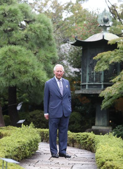 Prince Charles during the Royal Tour of Japan