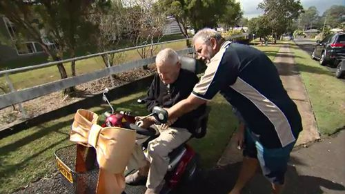 Dieter Daniels shows Mr McPherson all the bells and whistles. Picture: 9NEWS
