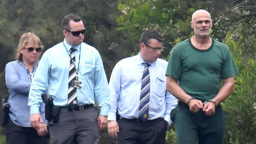 Police unable to find remains of Quanne Diec during search with Vinzent Tarantino (right). (AAP)