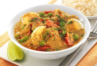 Chicken and egg korma
