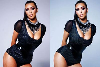 Kim Kardashian lost her curves on the cover of <i>Complex</i> in 2009.