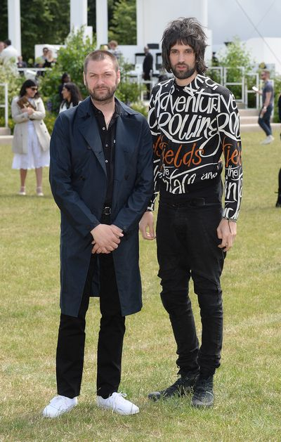 <p>Musicians Tom Meighan and Sergio Pizzorno</p>