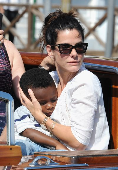 <p>Actress Sandra Bullock began the adoption process for her son, Louis, when she was married to Jesse James. Once they split after news of his alleged affairs came out - Sandra continued as a single parent and later adopted a daughter Laila in 2015.</p>