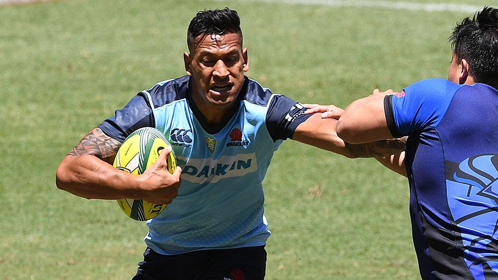 The NSW Waratahs have defended the decision to play Israel Folau in only the opening match of the Brisbane Global Tens. (AAP)