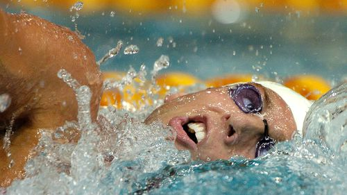 Grant Hackett returns to the pool