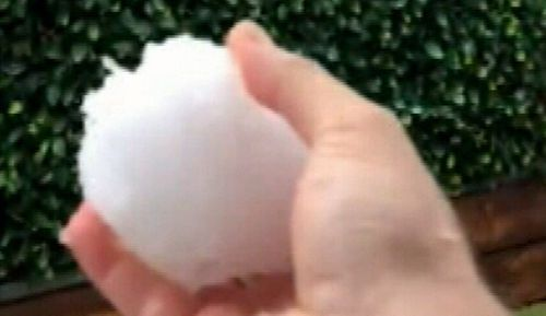 Hail covered some of the city's west and north west in ice, with the suburb of Schofields worst affected.