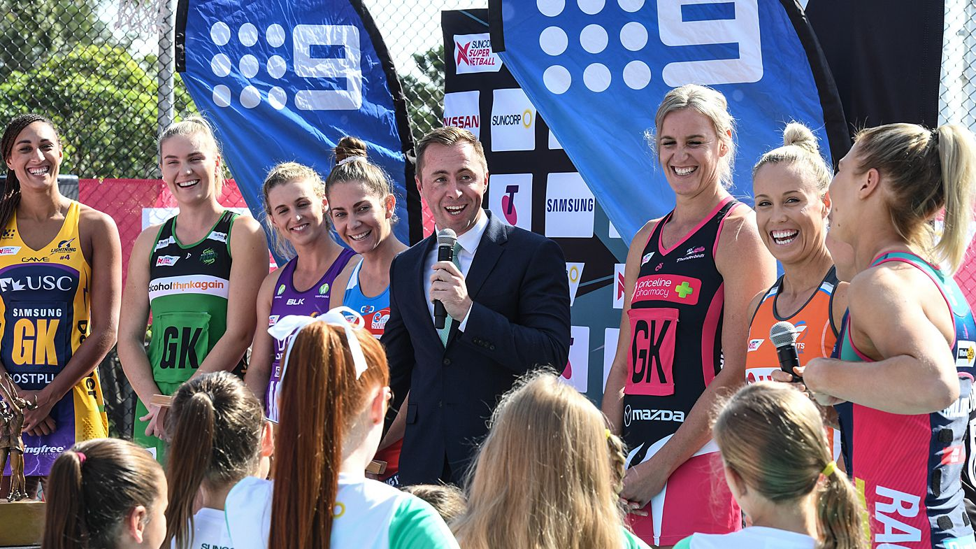 The Super Netball captains seen during the season launch in Sydney